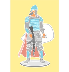 Strong warrior vector image vector image