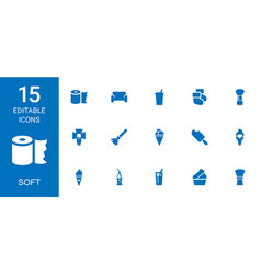 15 soft icons vector
