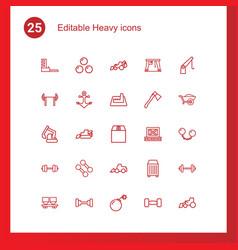 25 heavy icons vector