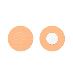 3d realistic round medical patch icon set vector