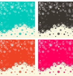 Abstract Retro Background Set vector image