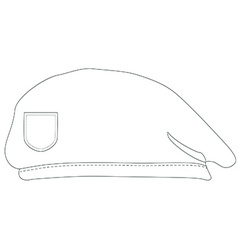 Armay beret outline drawings vector image