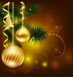 balls to decorate the christmas tree vector image