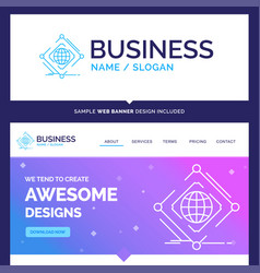 Beautiful business concept brand name complex vector