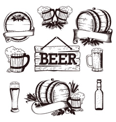 beer set 1 vector image