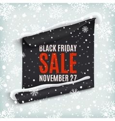 Black Friday sale paper banner vector image