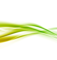 Bright green speed swoosh line abstract modern vector