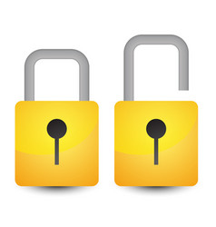 Bright padlock icon vector