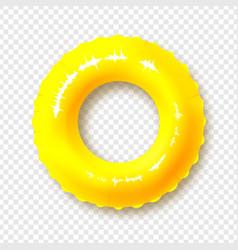 bright yellow swimming circle realistic summer vector image