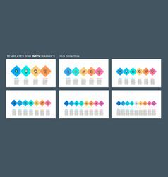 business infographics presentation templates vector image