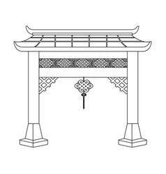 chinese gate cartoon vector image