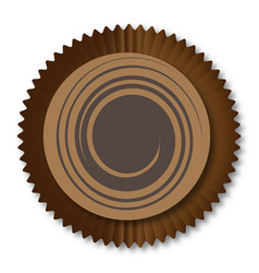 Chocolate box swirl vector