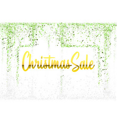 christmas sale gold glitter confetti texture frame vector image