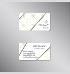 creative business card with light ornament vector image