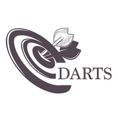 Darts championship tournament sketch logo vector