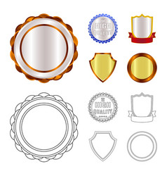 Design emblem and badge sign collection vector