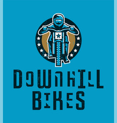 design for printing on a t-shirt cyclist riding a vector image
