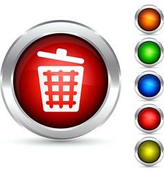 Dustbin button vector