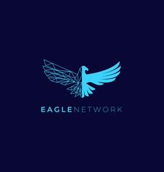 eagle network logo design concept creative vector image
