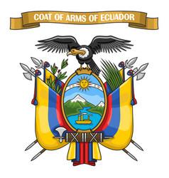 ecuadorian coat arms vector image