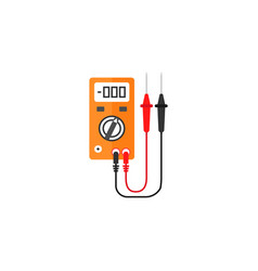 Electric tester flat icon build repair vector
