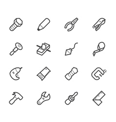 Engineer tools black icon set on white back vector
