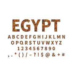 Ethnic font ornament alphabet abc set vector