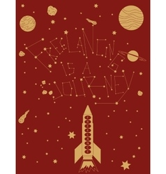 freelancing is a space trip vector image