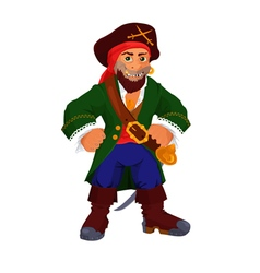 Funny cartoon pirate vector image