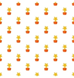 Gold cup star pattern cartoon style vector