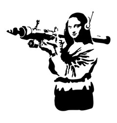 Graffiti stencil silhouette of a woman with a vector