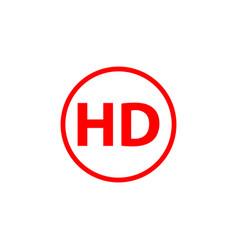 Hd logo template design vector