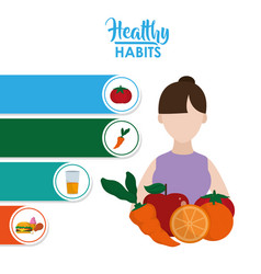 Healthy habits woman vector