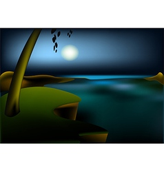 Hight ocean landscape vector image