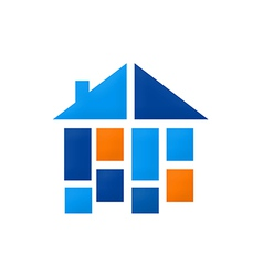 home construction shape interior logo vector image
