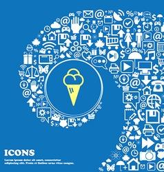 ice cream sign symbol Nice set of beautiful icons vector image
