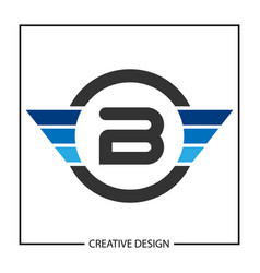 Initial letter b logo template design vector
