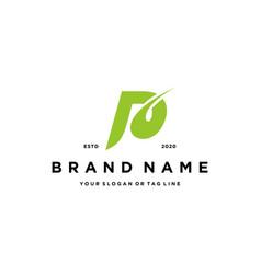Letter p logo design vector