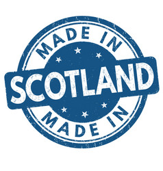 made in scotland grunge rubber stamp vector image