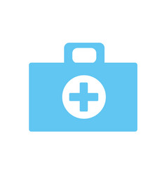 medical aid kit emergency care vector image