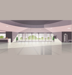 Modern reception area empty no people lobby vector