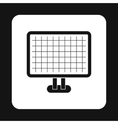 Monitor with image on screen icon simple style vector image