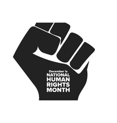 National human rights month holiday concept vector