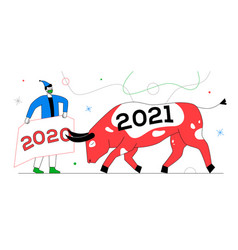 New year 2021 - colorful flat design style vector