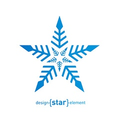 Original snowflake on white background vector image