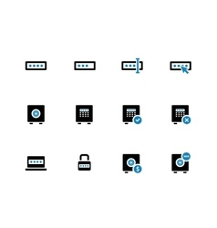 Password duotone icons on white background vector
