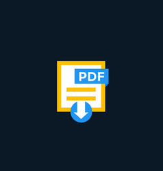 pdf document icon download pdf file vector image