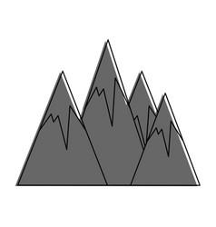 peak mountains landscape vector image