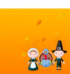 Pilgrims background vector