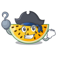 Pirate fresh yellow watermelon on character vector